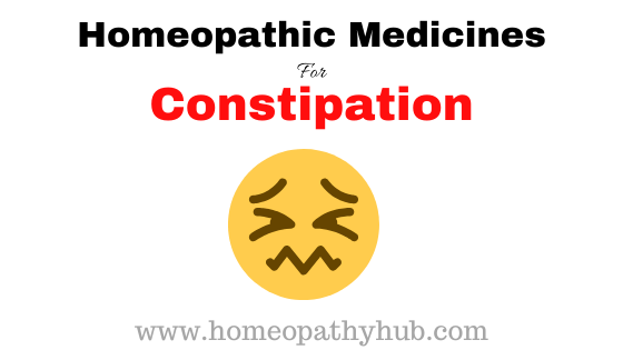 Homeopathic Medicines for Constipation